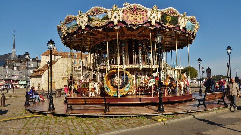 Carousel at Honfleur Harbor
