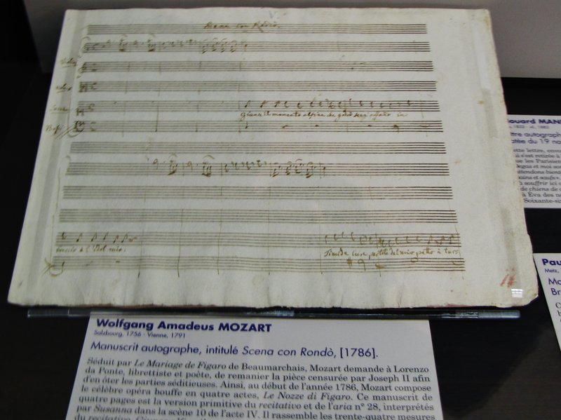 Mozart at the Museum of Letters and Manuscripts