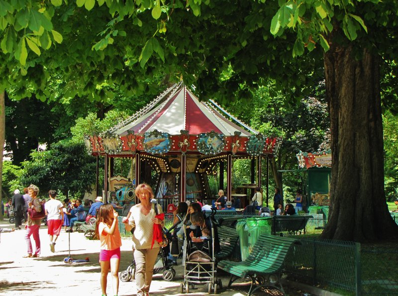Carousel in Parc Monceau in Paris
