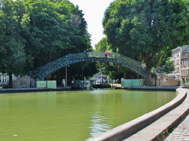 Footbridge across the Canal St. Martin