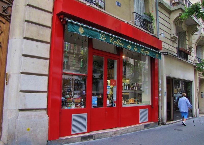 Le Cellier de la Butte, a wine shop on rue Caulaincourt