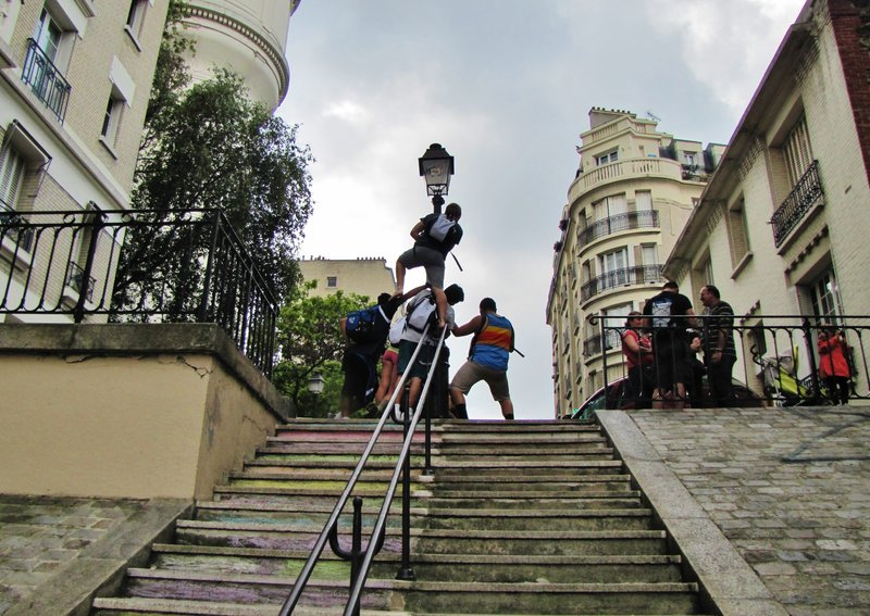 Students being students . . . Montmartre