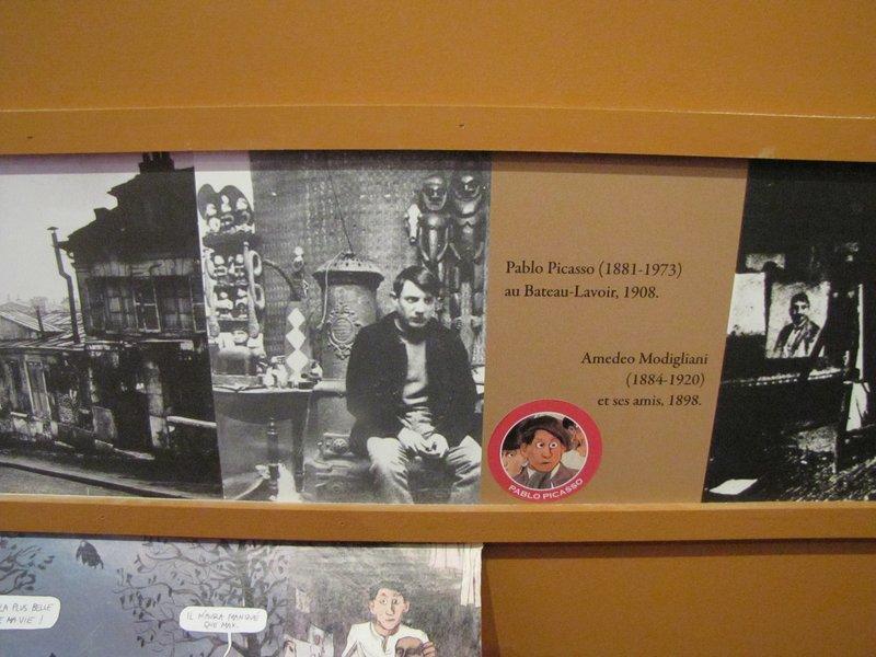 Part of the Picasso exhibit at the Musée de Montmartre