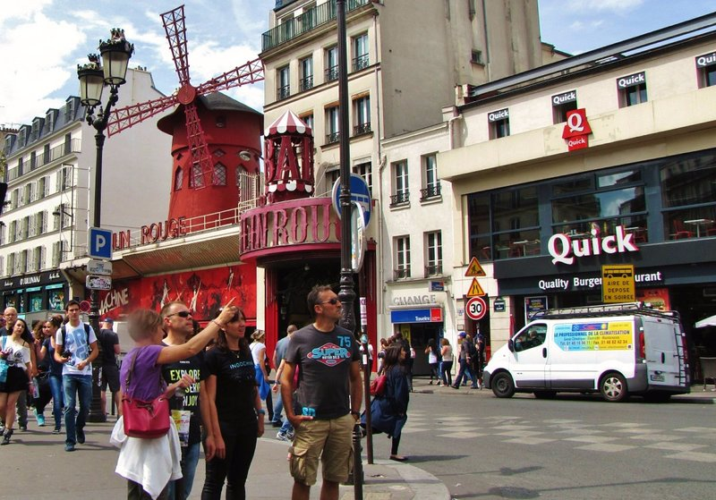 The Moulin Rouge at Place Blanche in Montmartre