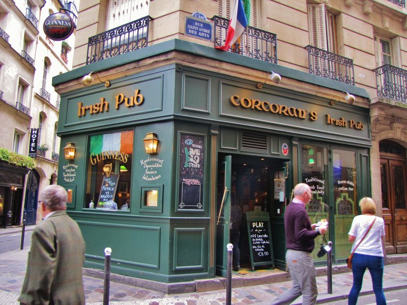 Corcoran's Irish Pub on rue Saint-André-des-Arts