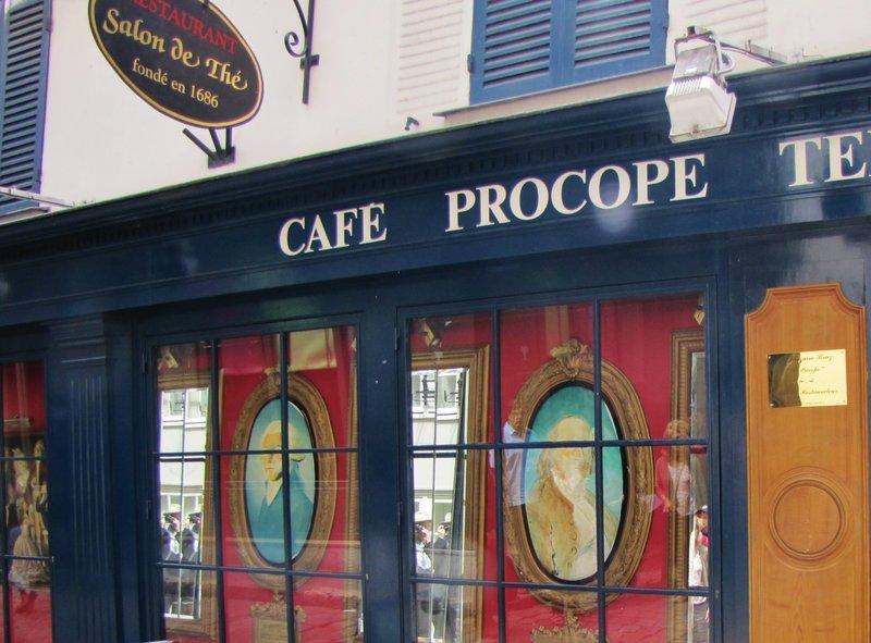 Café Procope, the oldest restaurant in Paris