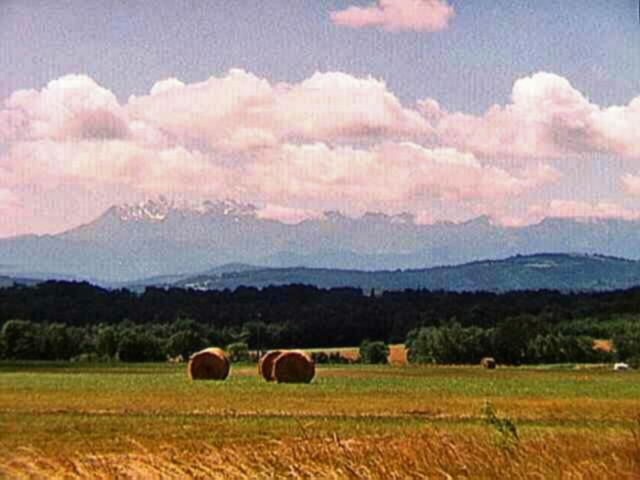 First view of the Pyrénées