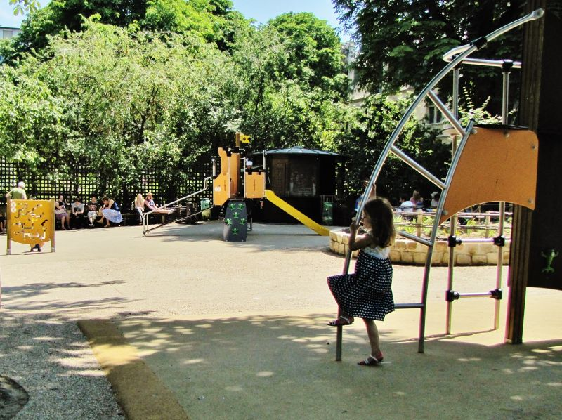 Playground at the Cluny Museum Garden - Paris