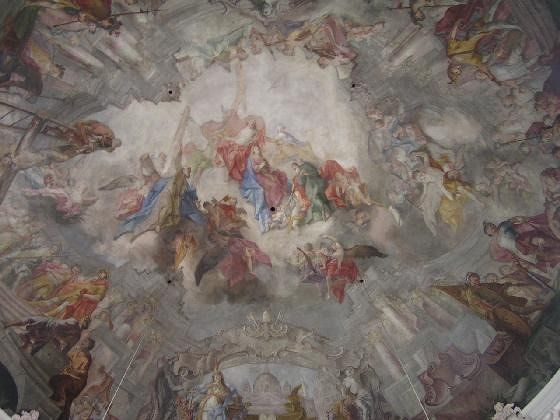 Fresco inside the dome in Mittenwald church