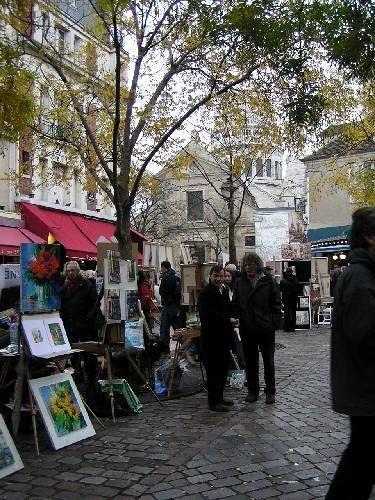 Place du Tertre, Montmartre in Paris
