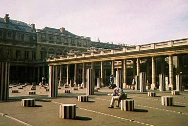 Cour d'Honneur of the Palais Royal with the Daniel Buren Columns