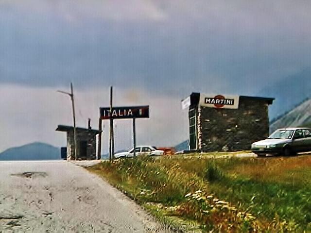 Italian border crossing at the Maddalena Pass