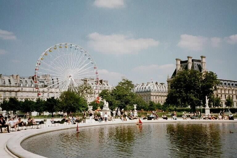 Tuileries Gardens, toy boats and country fair - Paris