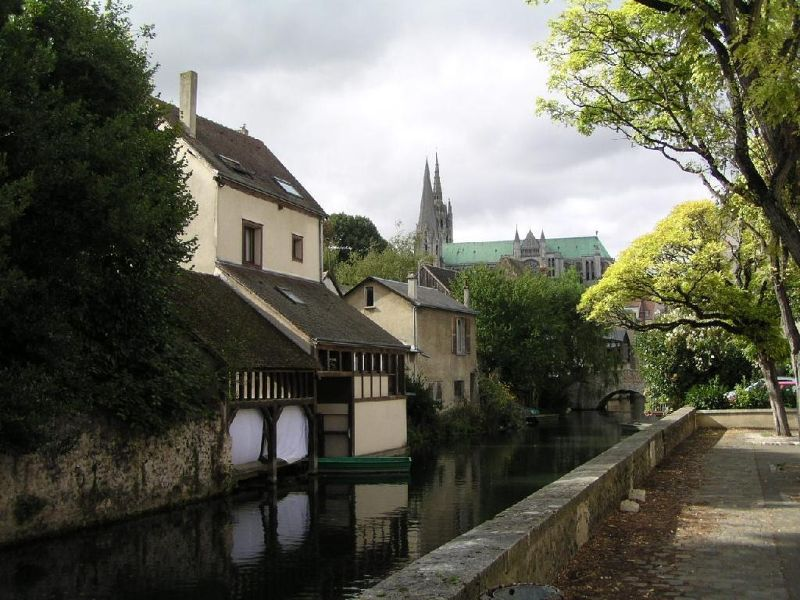 Chartres Cathedral from the Eure River