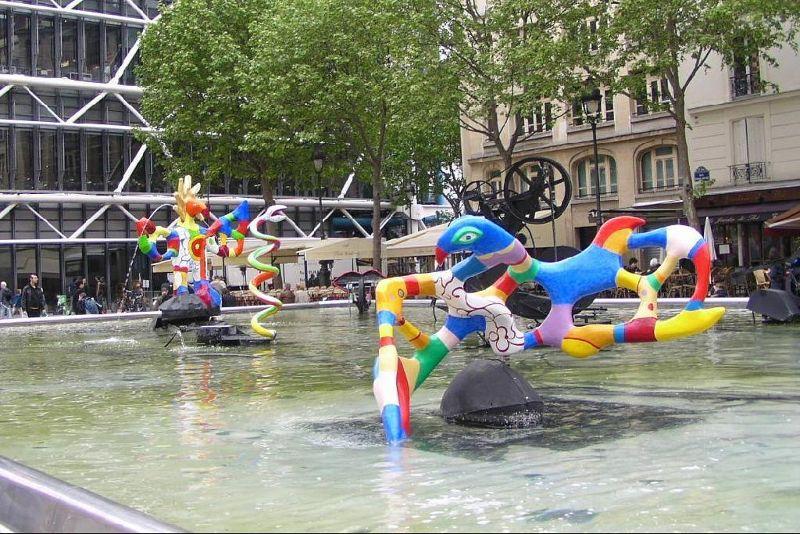 Stravinsky Fountain near the Pompidou Center, a kid favorite