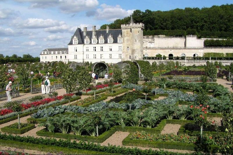 Château and gardens at Villandry