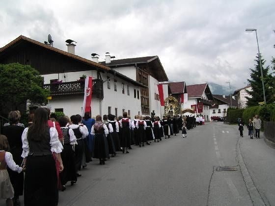 Religious procession in native dress - Axams