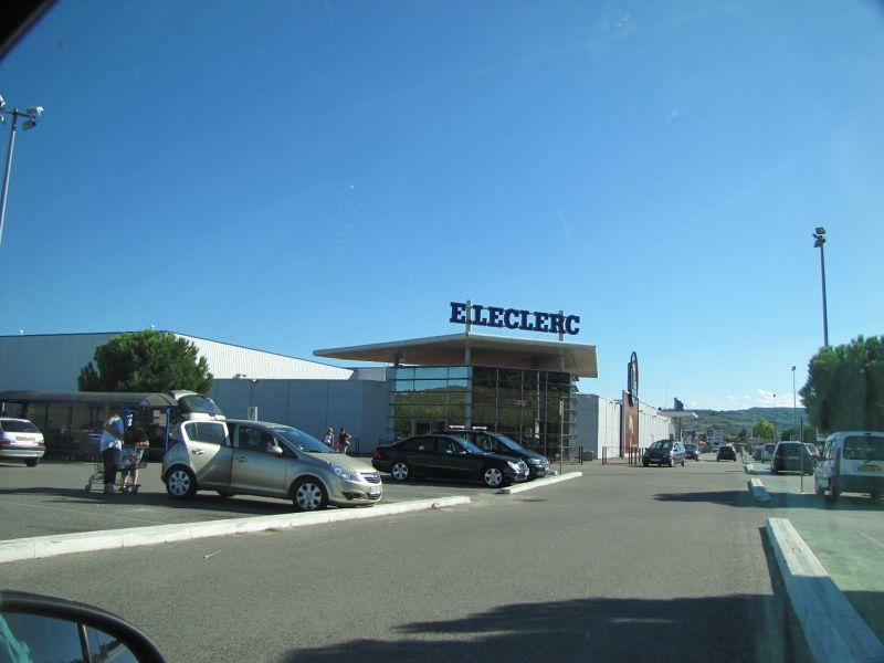 LeClerc Supermarket near Carcassonne, France