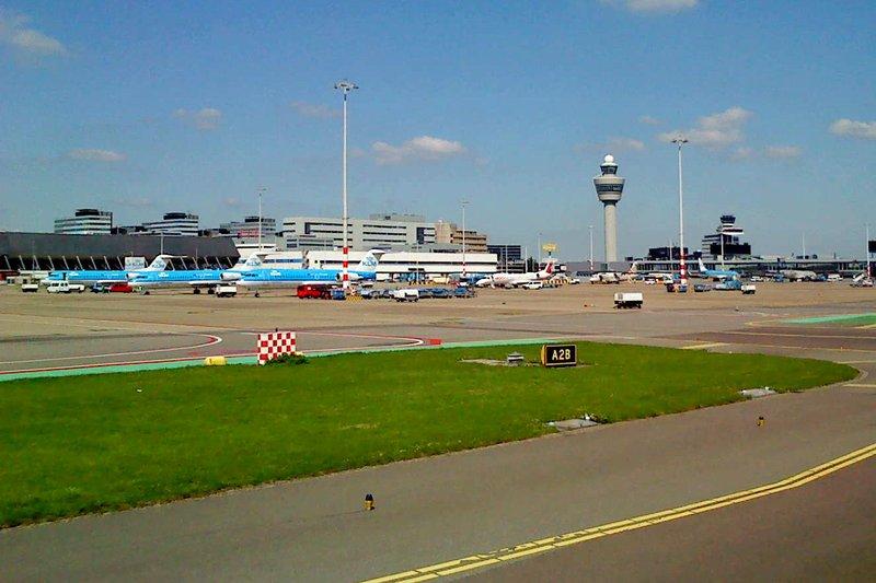 Landing at Amsterdam