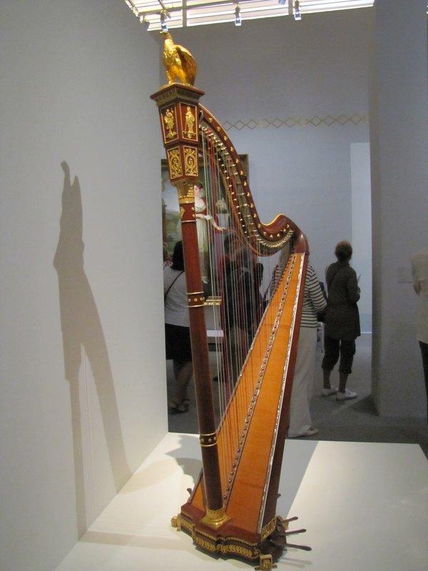 Harp in the Josephine Exhibit