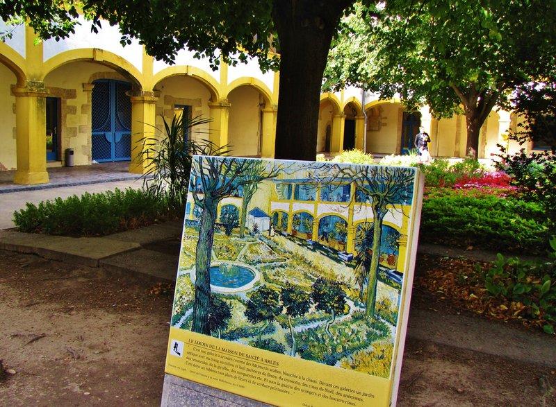 Van Gogh Easel inside the Hotel Dieu, Arles