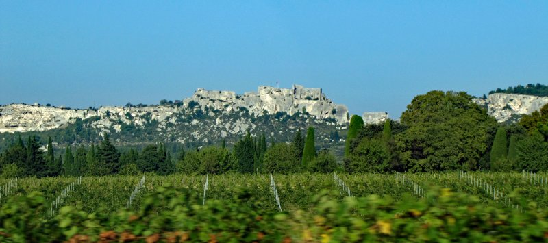Les Baux de Provence from the highway