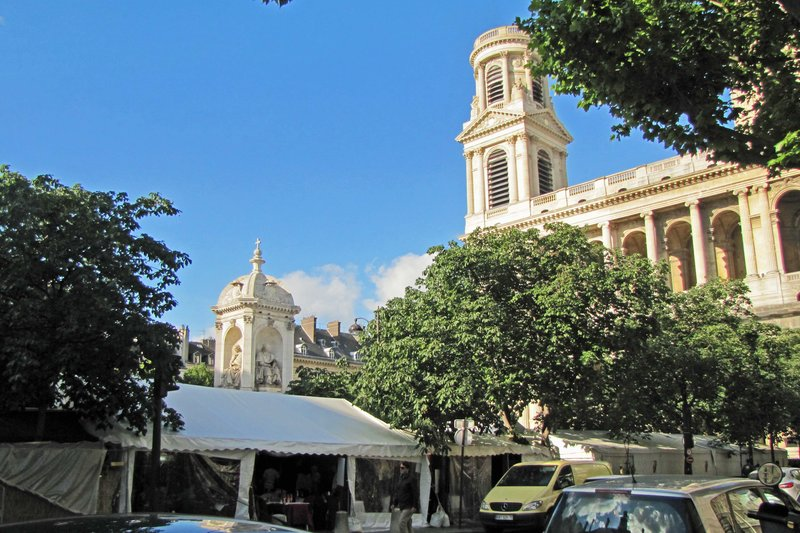 Poesie Market in front of St. Sulpice