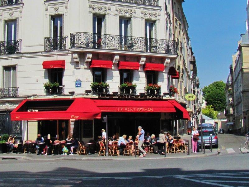 Café Le St. Germain near our Metro stop in Paris