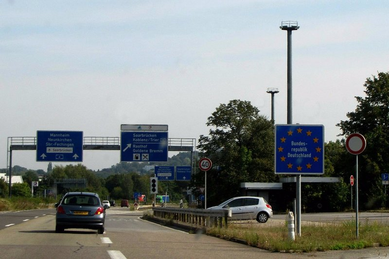 Leaving France and entering Germany