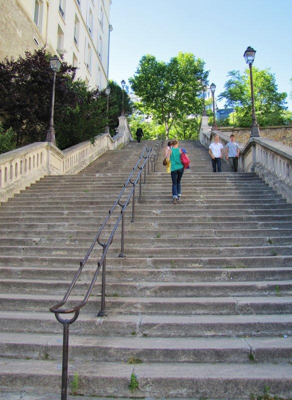 Stairs beside the Palais de Tokyo in Paris