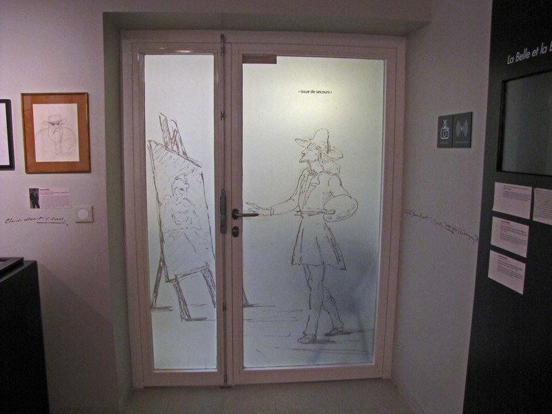 Interesting doorway in the Museum of Letters and Manuscripts