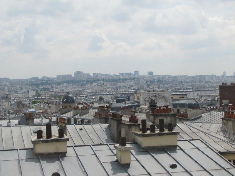View from Le Cabanon de la Butte in Montmartre