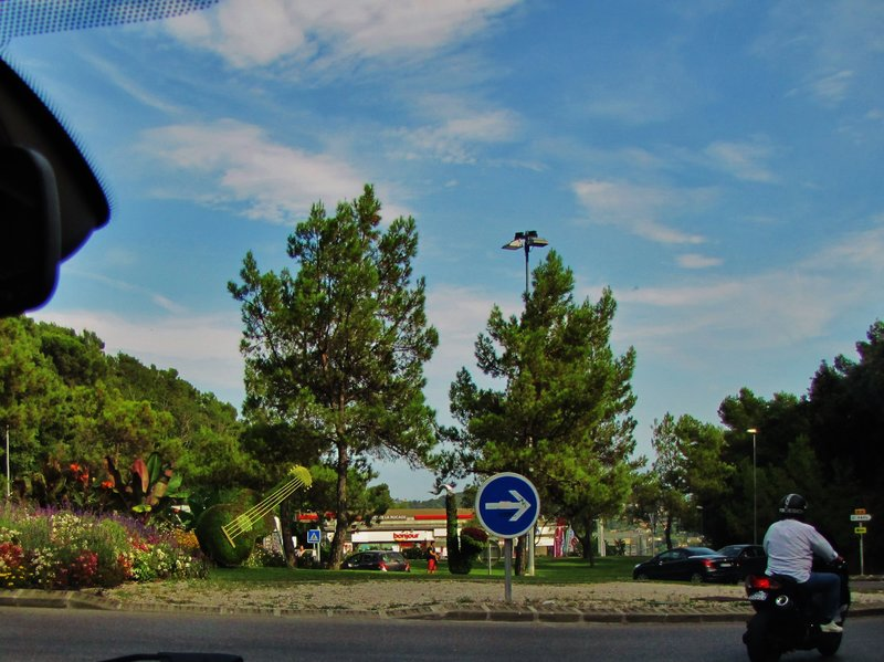 Roundabout on the Route de Cagnes