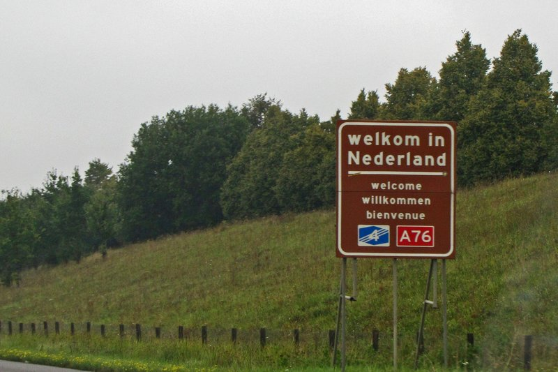 Entering the Netherlands from Germany