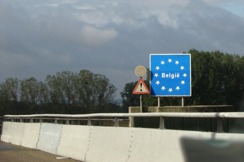 Entering Belgium from the Netherlands