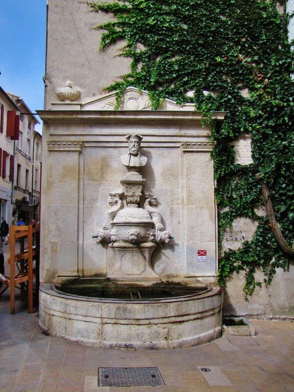 Nostradamus Fountain in Saint-Remy-de-Provence