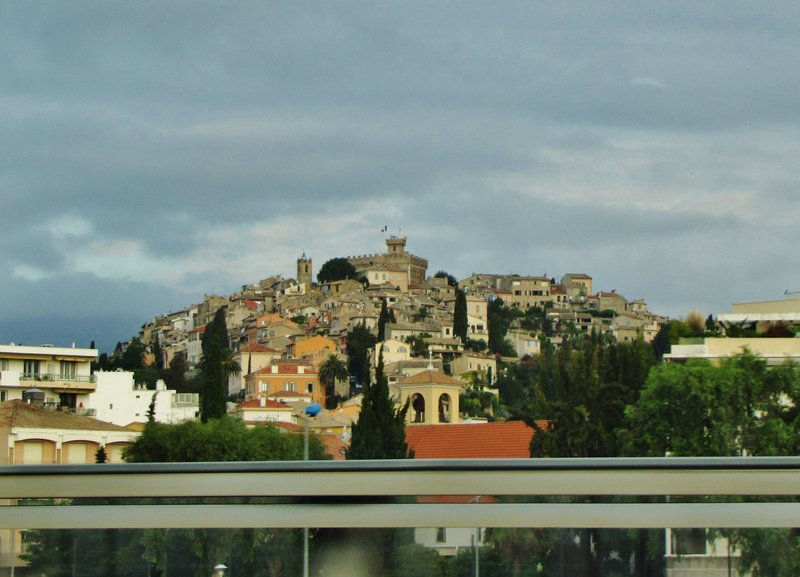 Driving past Cagnes-sur-Mer