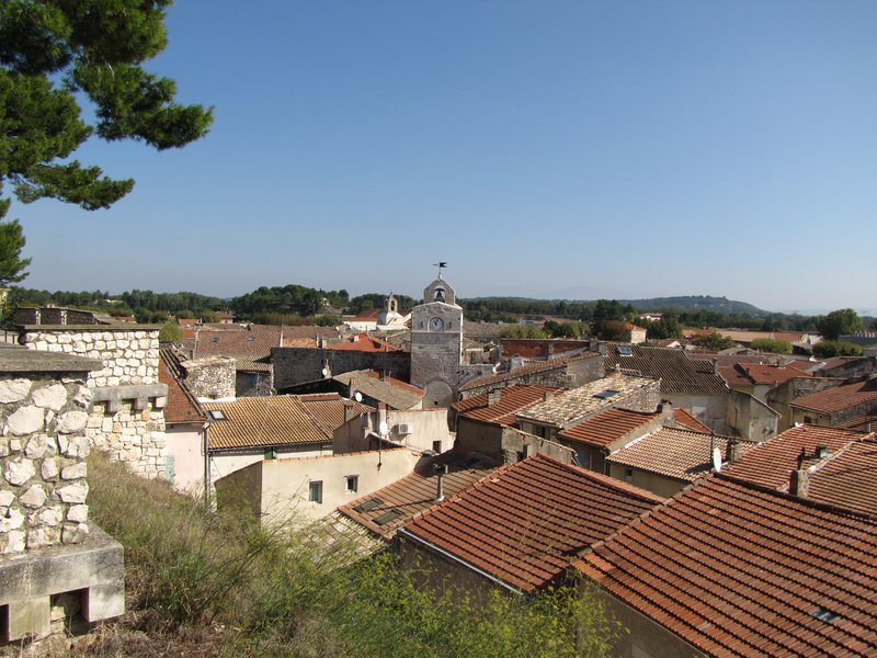 View from the Esplanade du Château in Noves