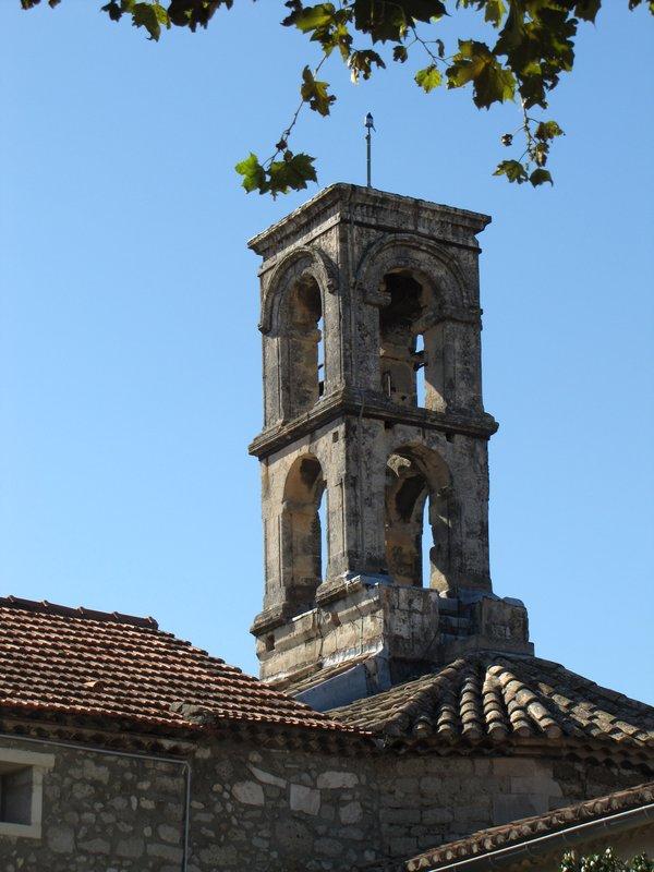 Bell tower of the church in Verquiérès