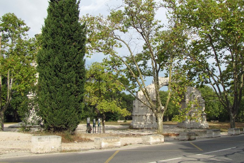 By the parking lot in Glanum
