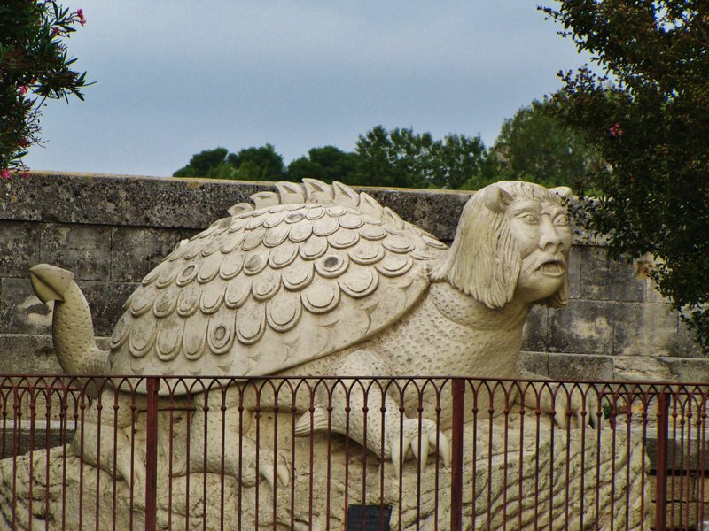 The Tarasque outside the Château de Tarascon
