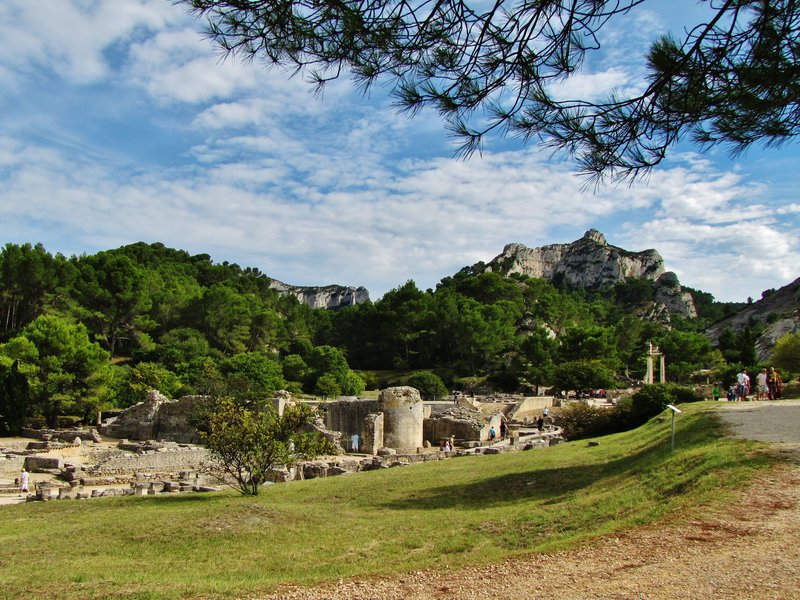 From the bistro at Glanum Archeological Site