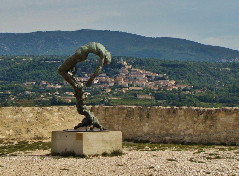 Arbre de la Vie, sculpture by Ettore Greco at  Château de Lacoste