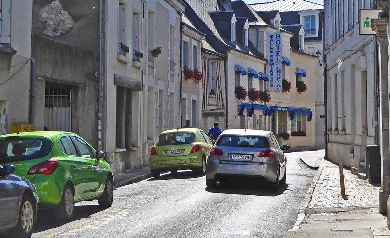 Side street in Amboise, France