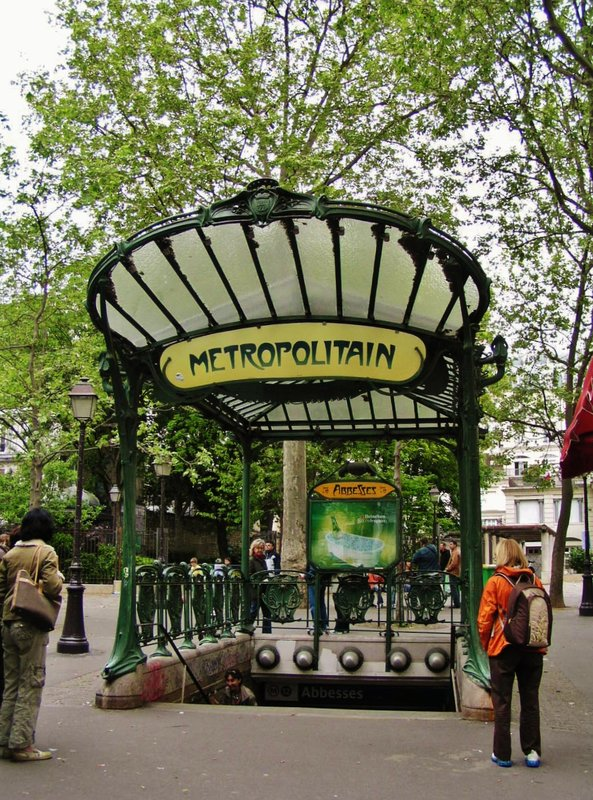 Abbesses Metro Station in Montmartre