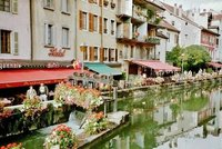Old Town Annecy by the river