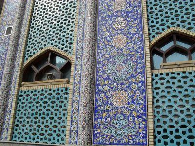 Detail of the beautiful Iranian mosque. - Dubai