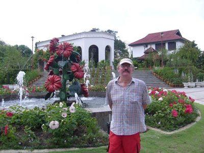 My husband in the Hibiscus Gardens - Kuala Lumpur