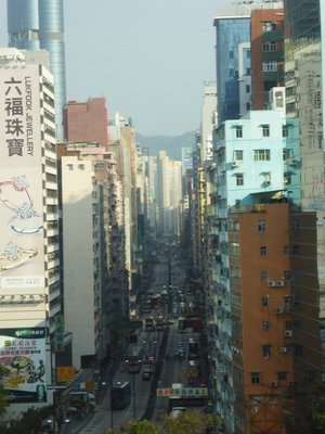 View from our hotel on Nathan Road, Kowloon