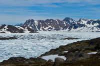 Icebergs from the viewpoint, Kulusuk, Greenland